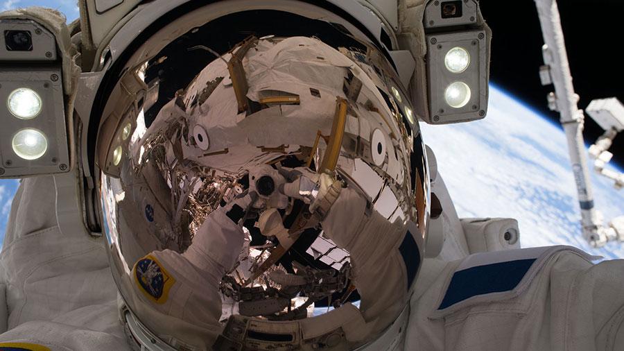 Spacewalker Thomas Pesquet