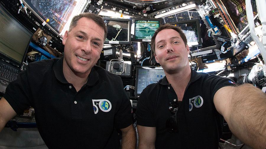Astronaut Shane Kimbrough and Thomas Pesquet