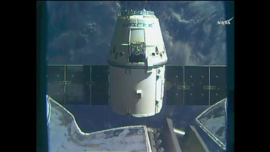 The SpaceX Dragon spacecraft was released from space station at 5:11 a.m. ET on March 19 after delivering more than 5,500 pounds of cargo.