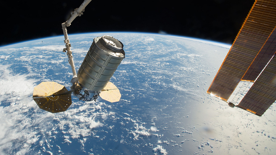 The Cygnus cargo spacecraft