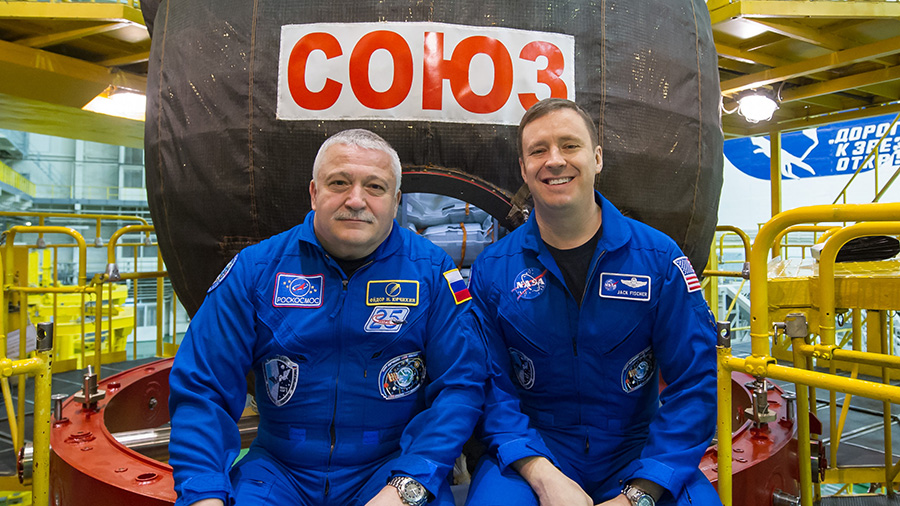 Expedition 51 Crew Members Fyodor Yurchikhin and Jack Fischer