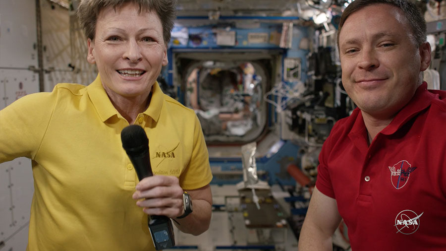 NASA astronauts Peggy Whitson and Jack Fischer