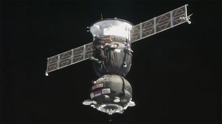 Soyuz Spacecraft Docks