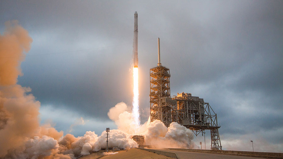 Liftoff of the SpaceX Dragon