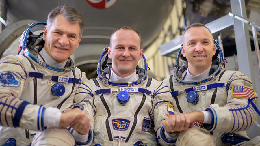 Expedition 52 flight engineers