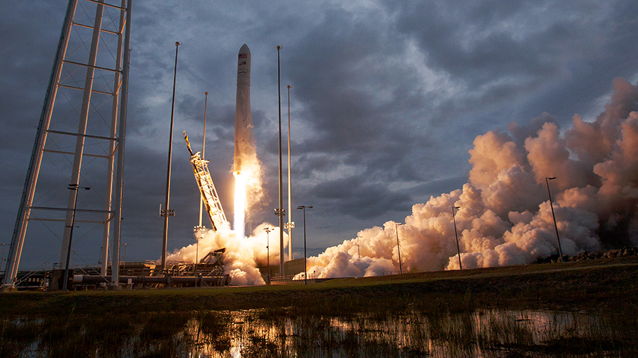 Cygnus Launches Aboard Antares Rocket