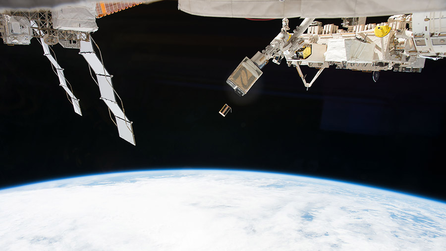 CubeSat Deployed from Station