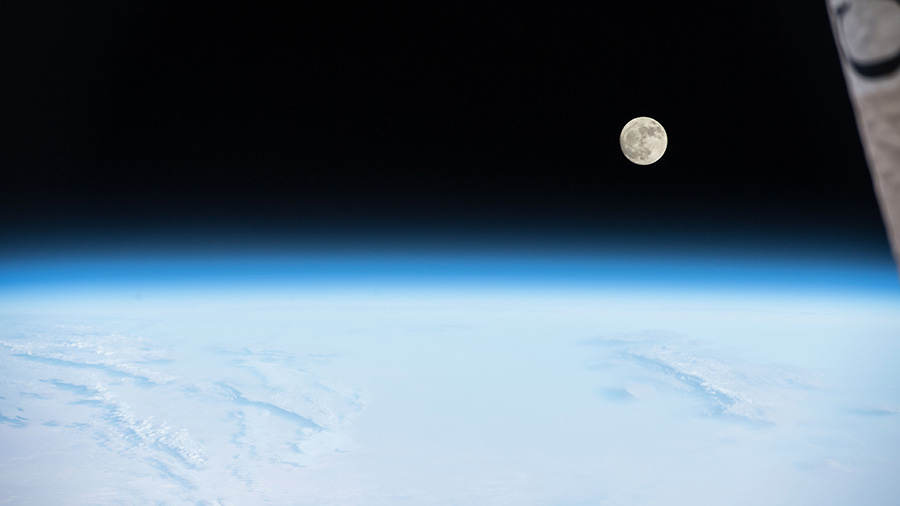 Near-Full Moon