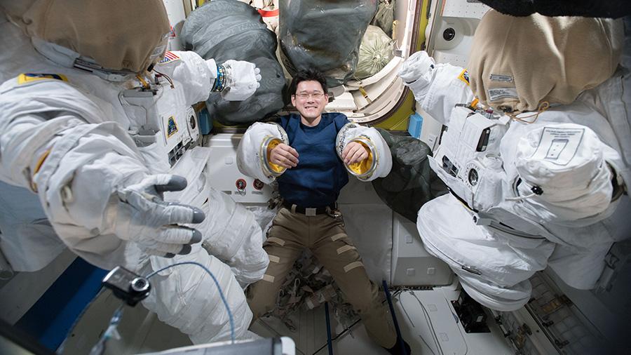Astronaut Norishige Kanai