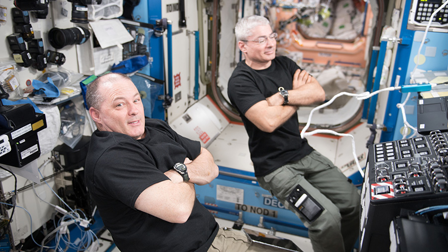 NASA astronauts Scott Tingle and Mark Vande Hei