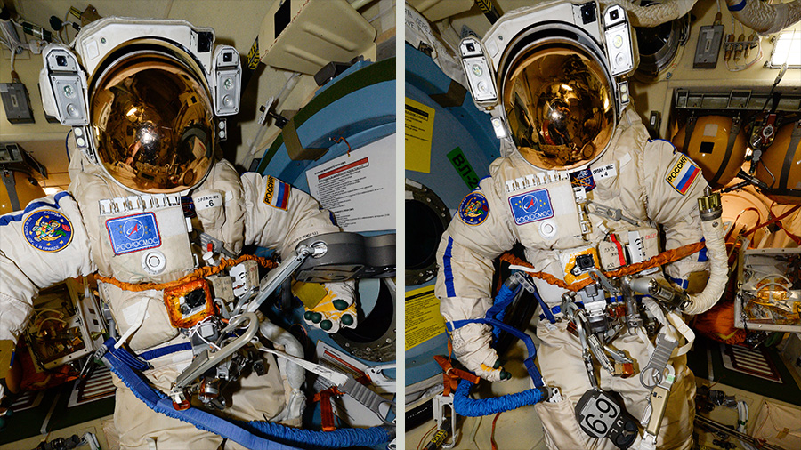 Russian Orlan Spacesuits