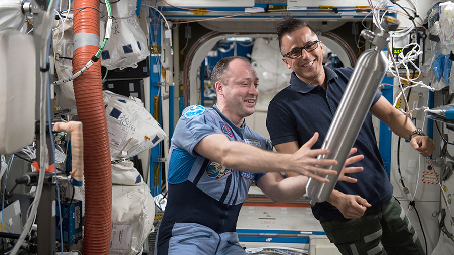 Expedition 54 Crew Members Alexander Misurkin and Joe Acaba