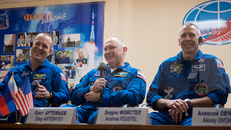 Expedition 55-56 crew members