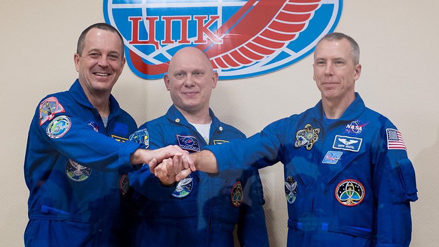 The Expedition 55-56 crew