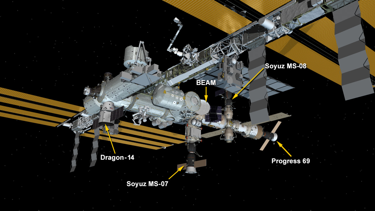 April 4, 2018: International Space Station Configuration