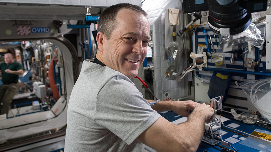 NASA astronaut and Flight Engineer Ricky Arnold
