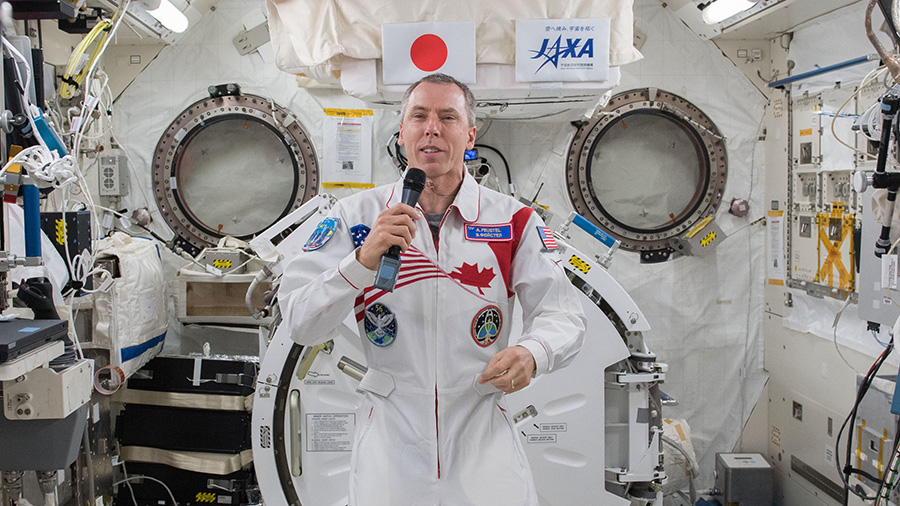 Expedition 55 Flight Engineer Drew Feustel of NASA