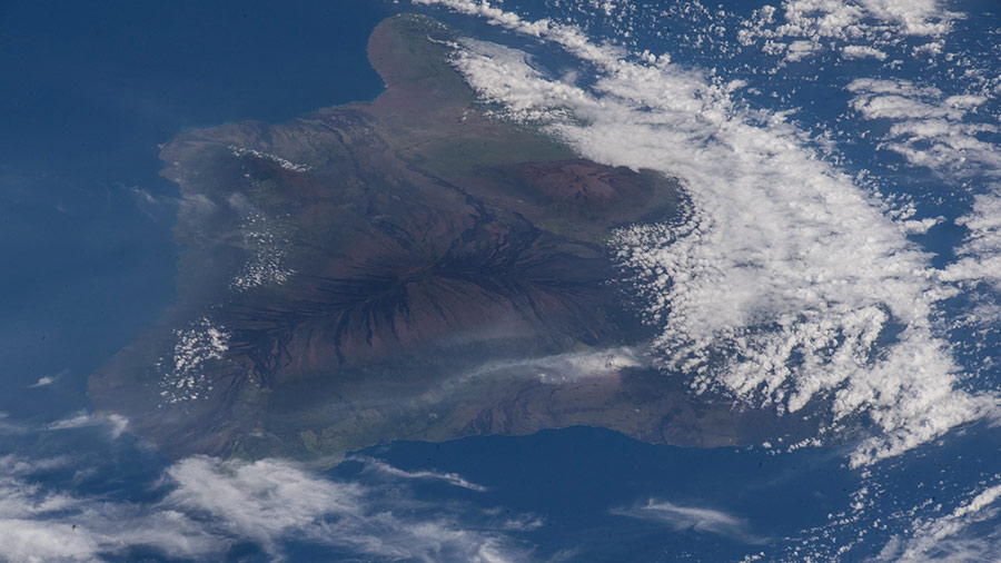The ash plume from the Kilauea volcano