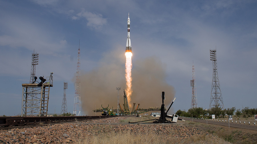 Soyuz Rocket Blasts Off