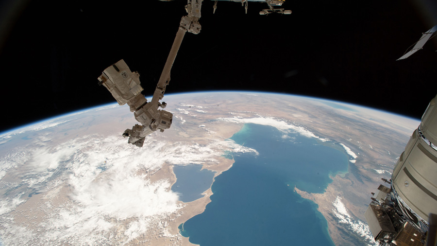 The Canadarm2 and the Caspian Sea
