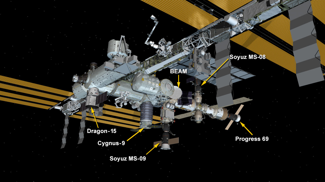 July 2, 2018: International Space Station Configuration