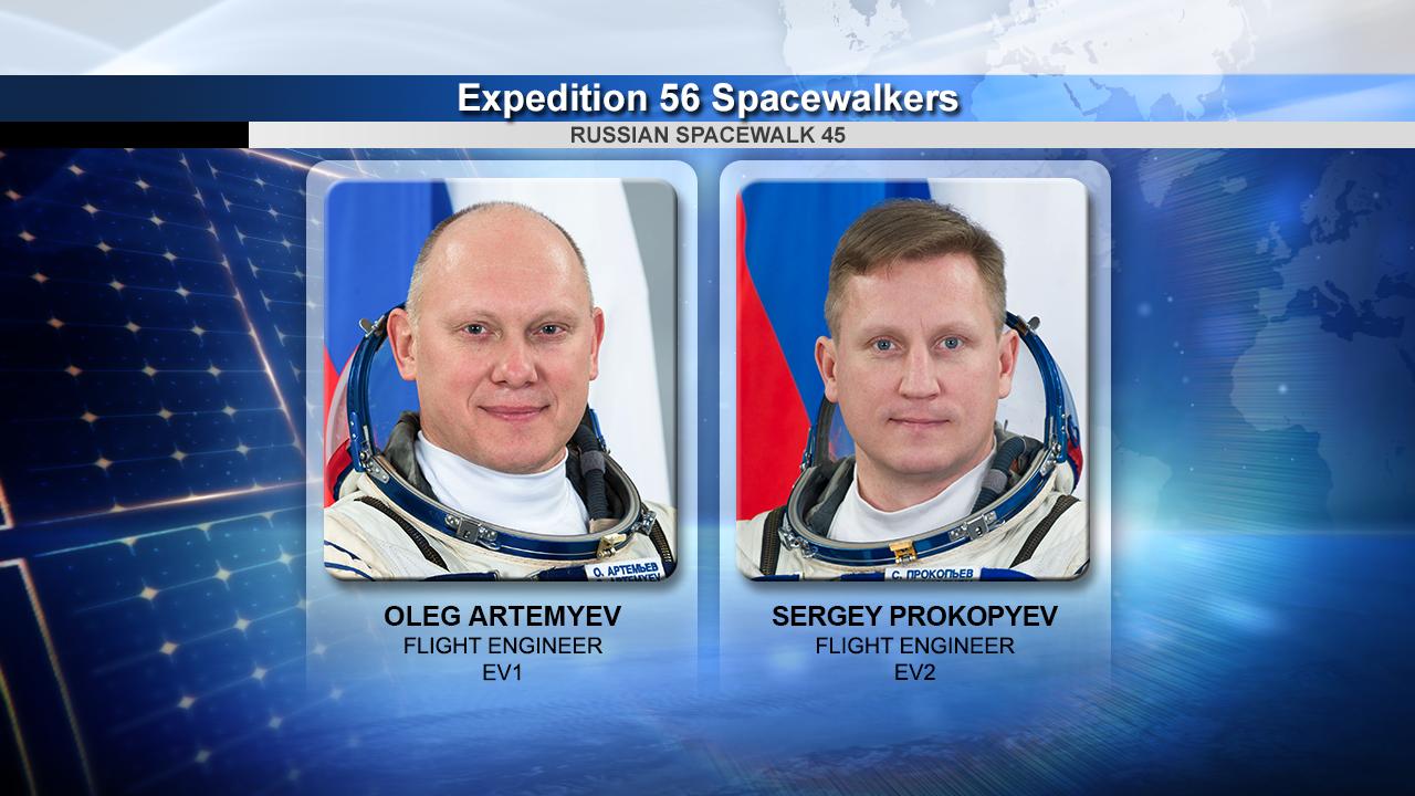 Flight Engineers Oleg Artemyev and Sergey Prokopyev