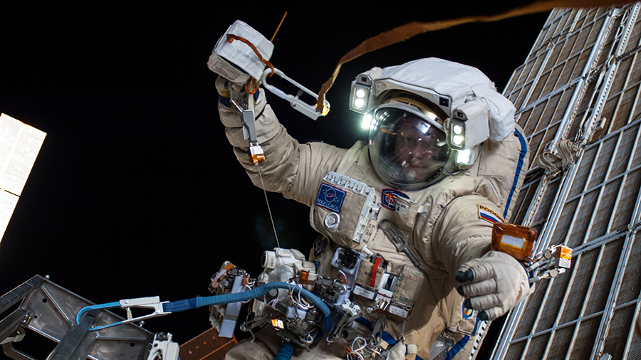 Russian cosmonaut Oleg Artemyev