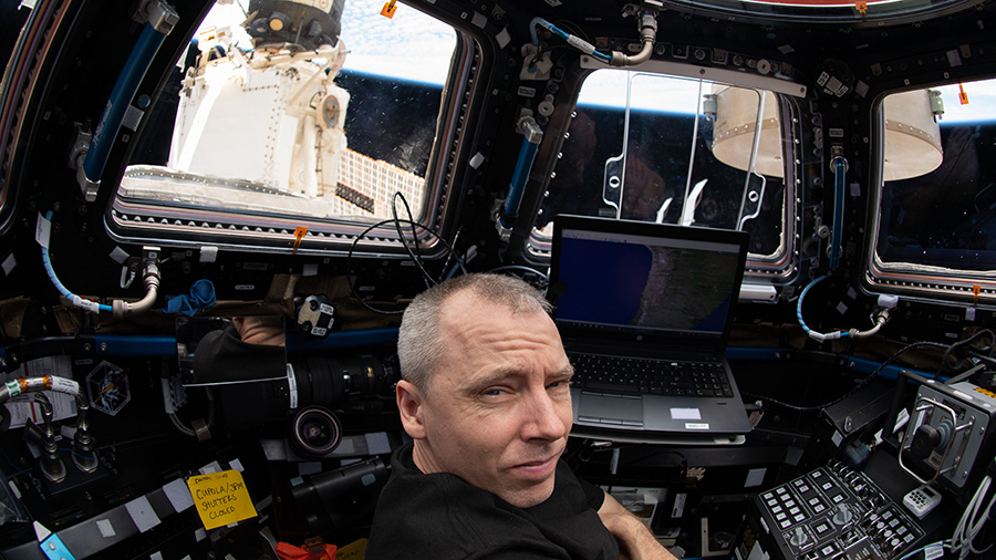 Expedition 56 Commander Drew Feustel of NASA