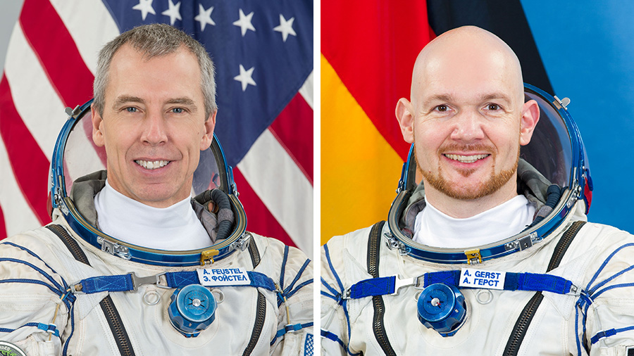 Astronauts Drew Feustel and Alexander Gerst