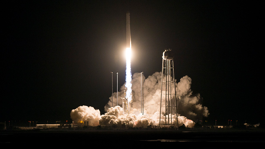 Northrop Grumman's Cygnus cargo spacecraft blasted off at 4:01 a.m. EST today