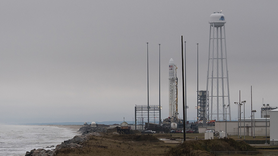 Northrop Grumman's Antares rocket carrying a Cygnus resupply spacecraft