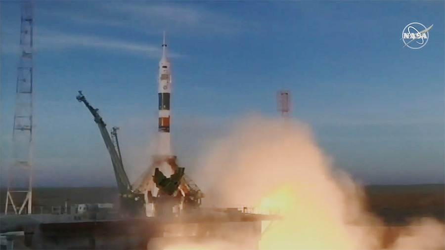 Expedition 58 Crew Blasts Off