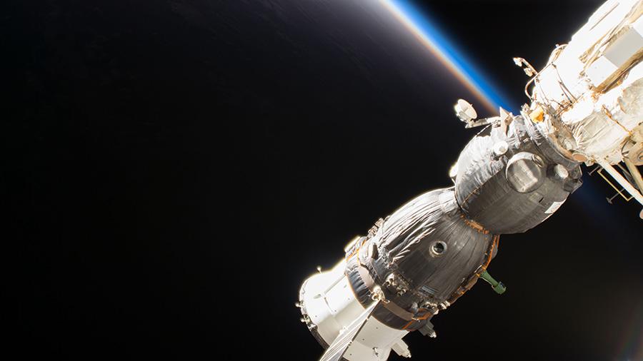 The Soyuz MS-09 crew spacecraft