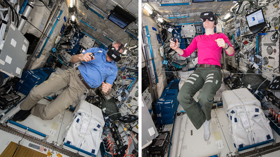 Astronauts David Saint-Jacques and Anne McClain