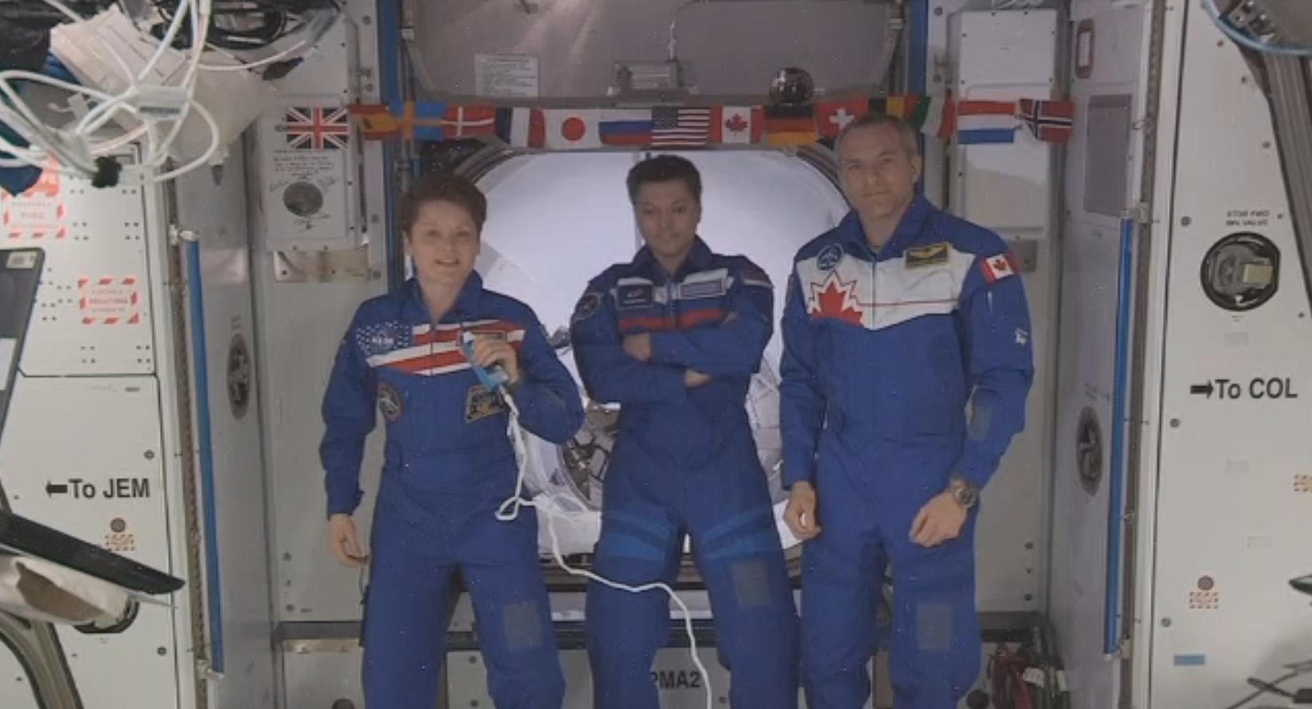 Expedition 58 welcomes Crew Dragon