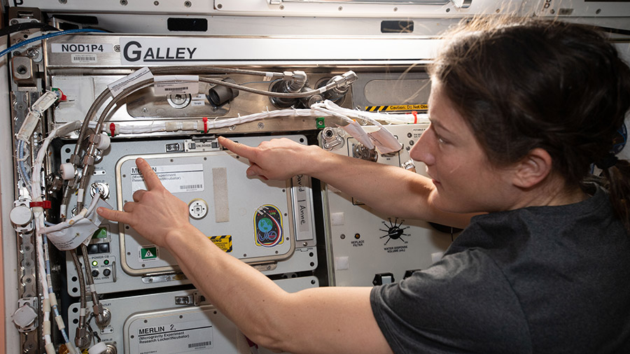 NASA astronaut and Expedition 59 Flight Engineer Christina Koch
