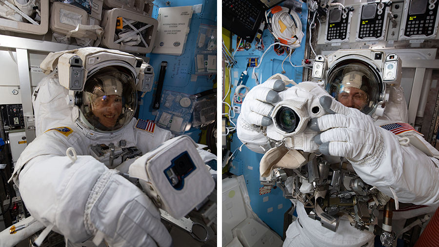 NASA astronauts Christina Koch and Nick Hague