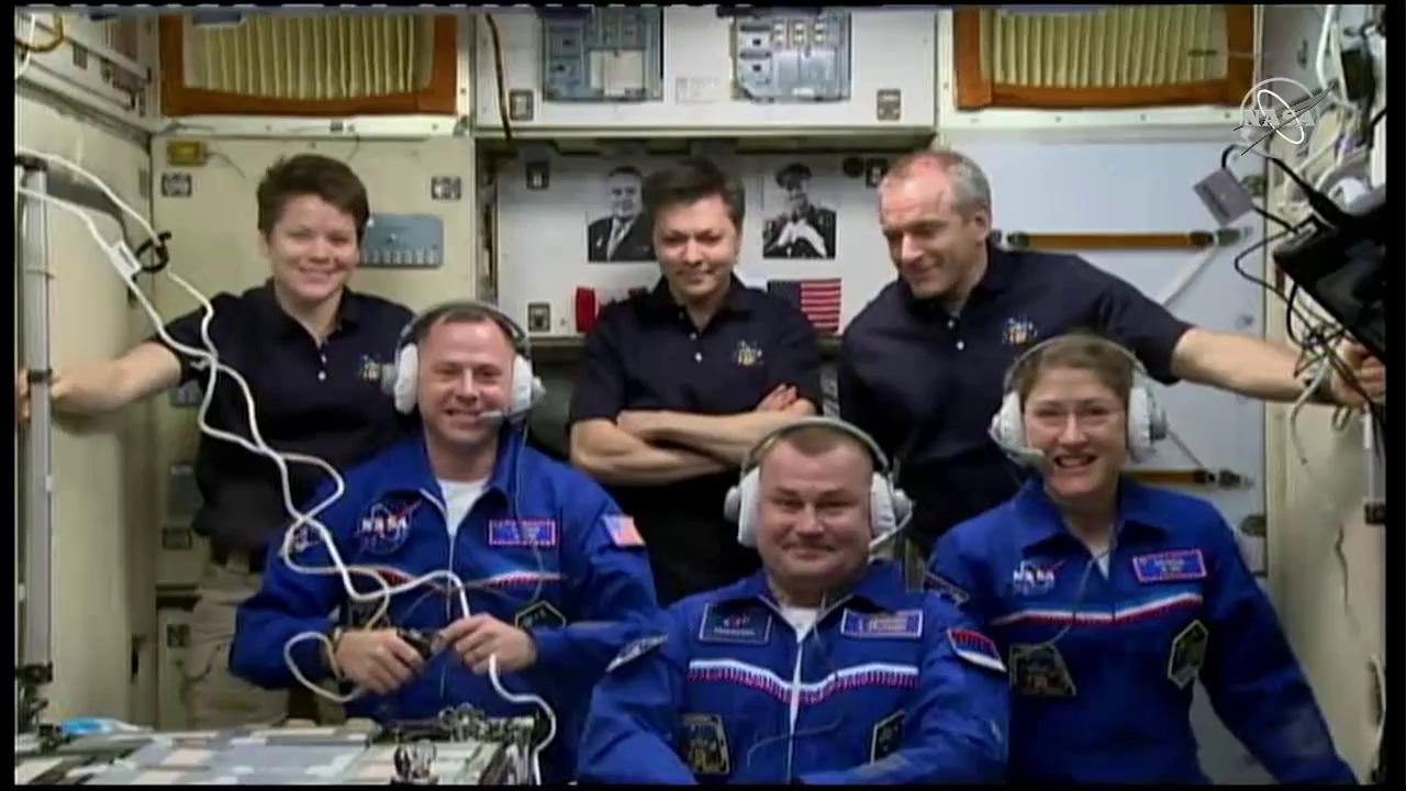 Expedition 59 Welcome Ceremony