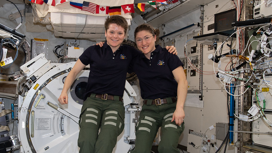 NASA astronauts Anne McClain and Christina Koch