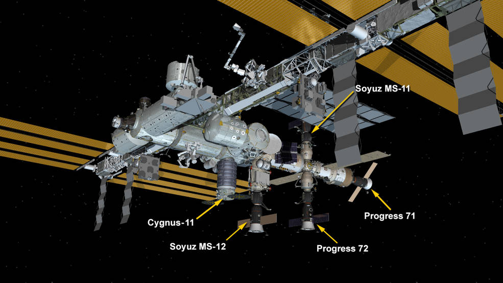 April 19, 2019: International Space Station Configuration