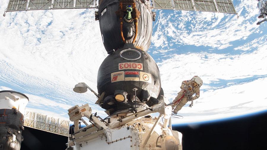 Russian spacewalker Oleg Kononenko