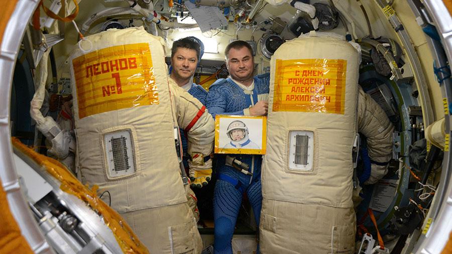 Cosmonauts Oleg Kononenko and Alexey Ovchinin
