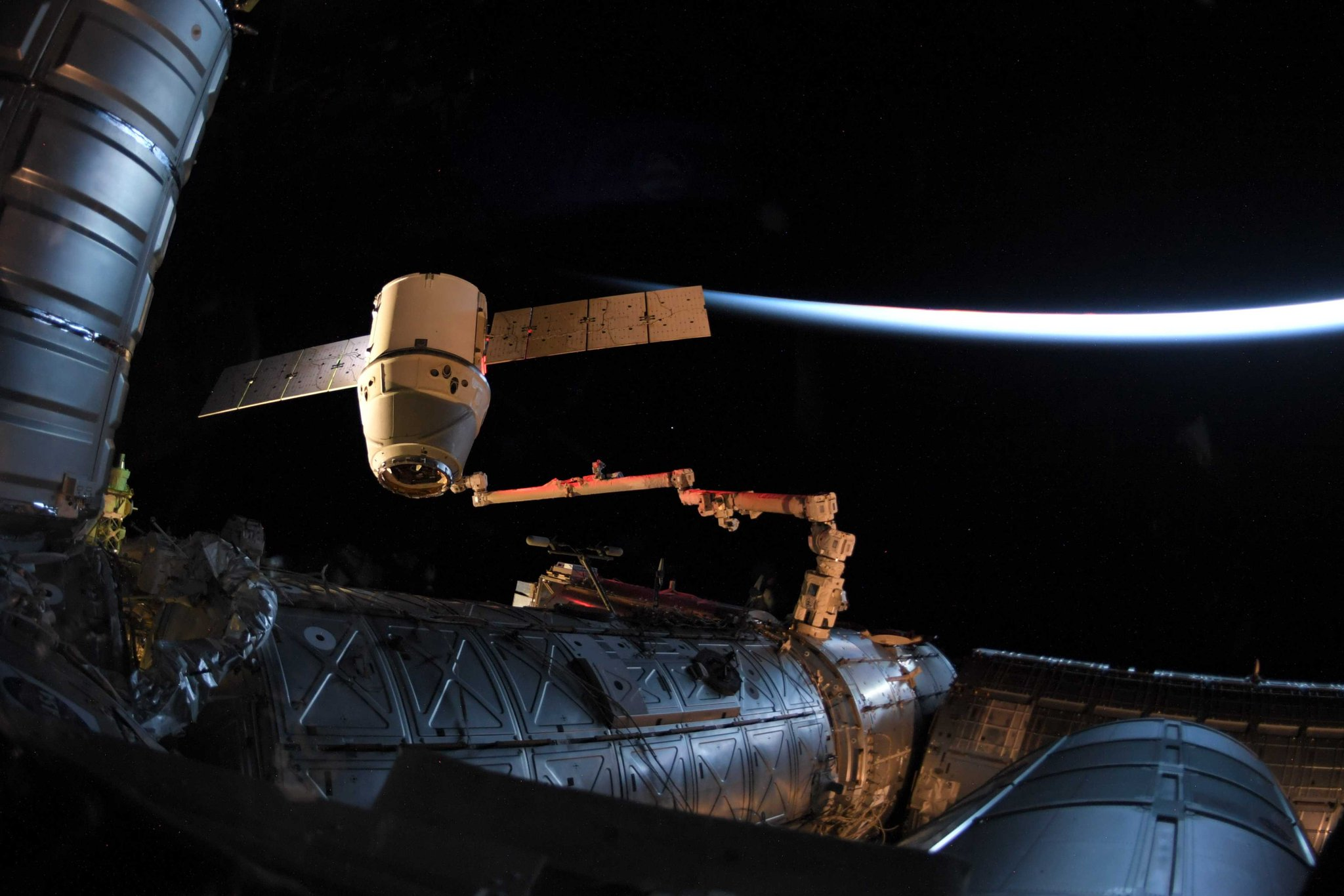 The SpaceX Dragon resupply ship