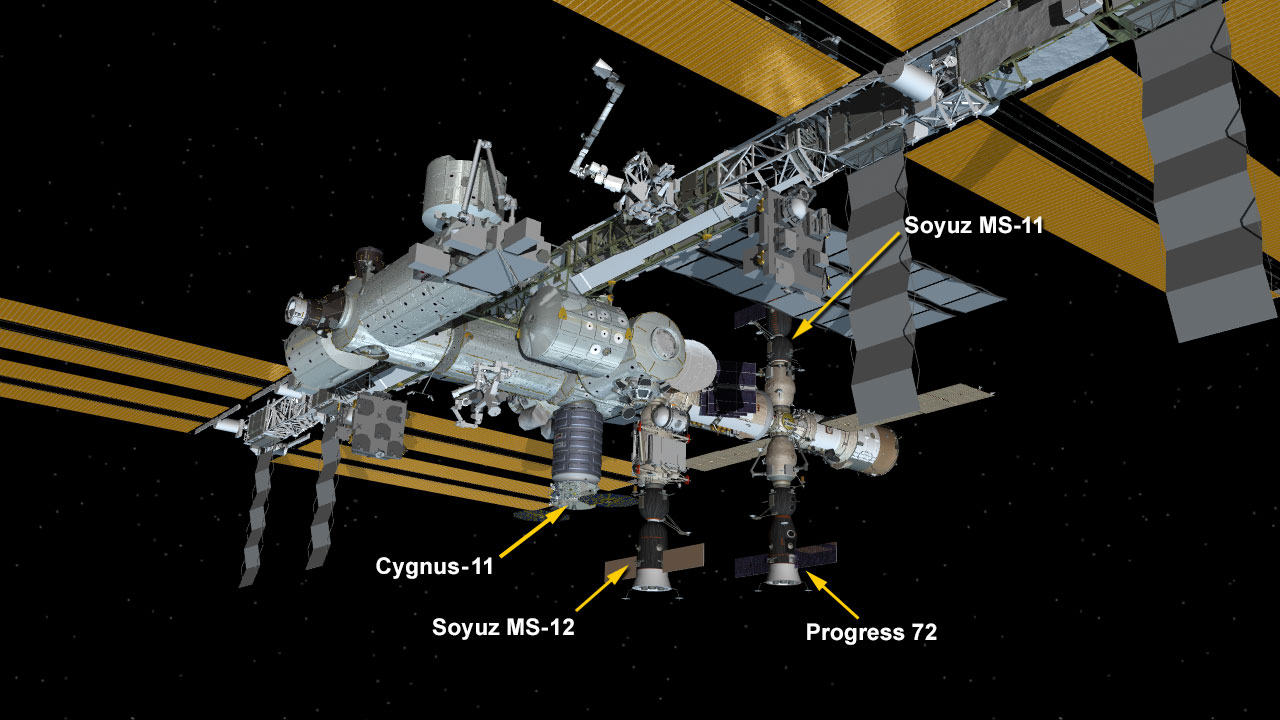 June 4, 2019: International Space Station Configuration