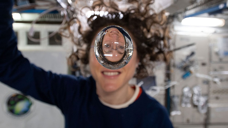 Expedition 60 Flight Engineer Christina Koch of NASA