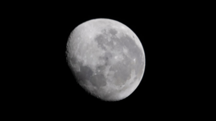A waning gibbous Moon on the 50th anniversary of NASA landing humans on the lunar surface