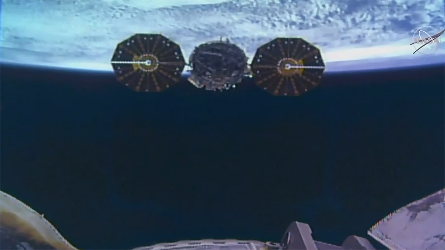 Cygnus Departs the Station