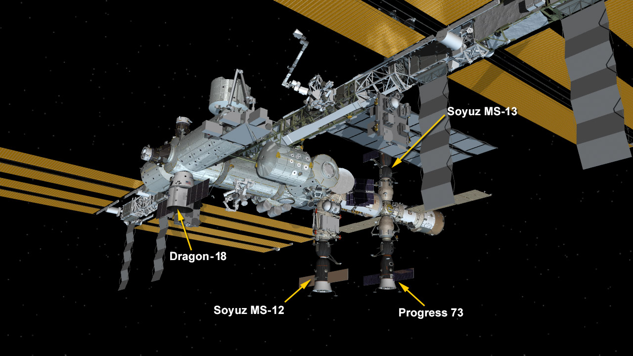 Aug. 25, 2019: International Space Station Configuration