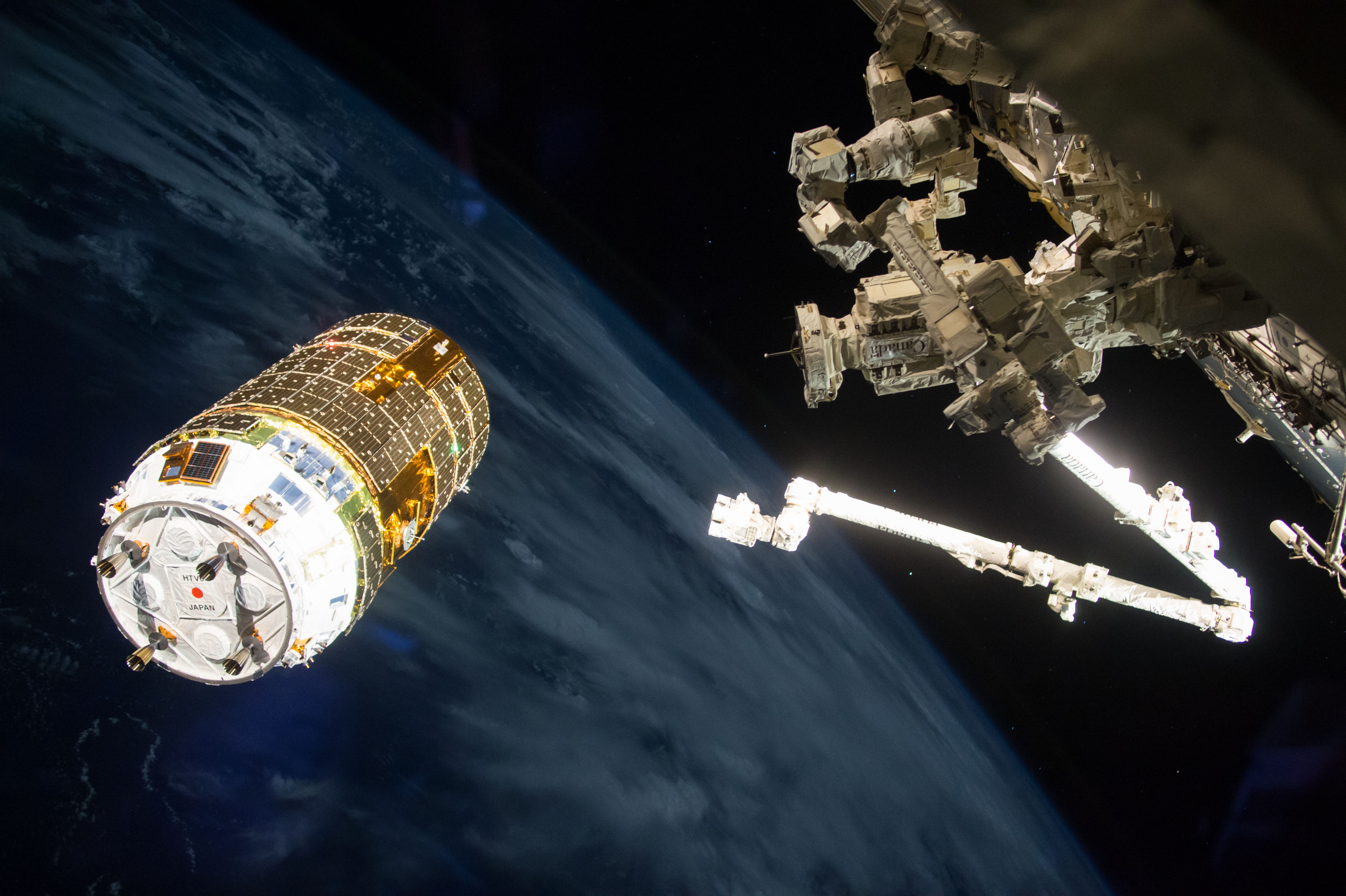 The Japanese HTV-6 cargo vehicle