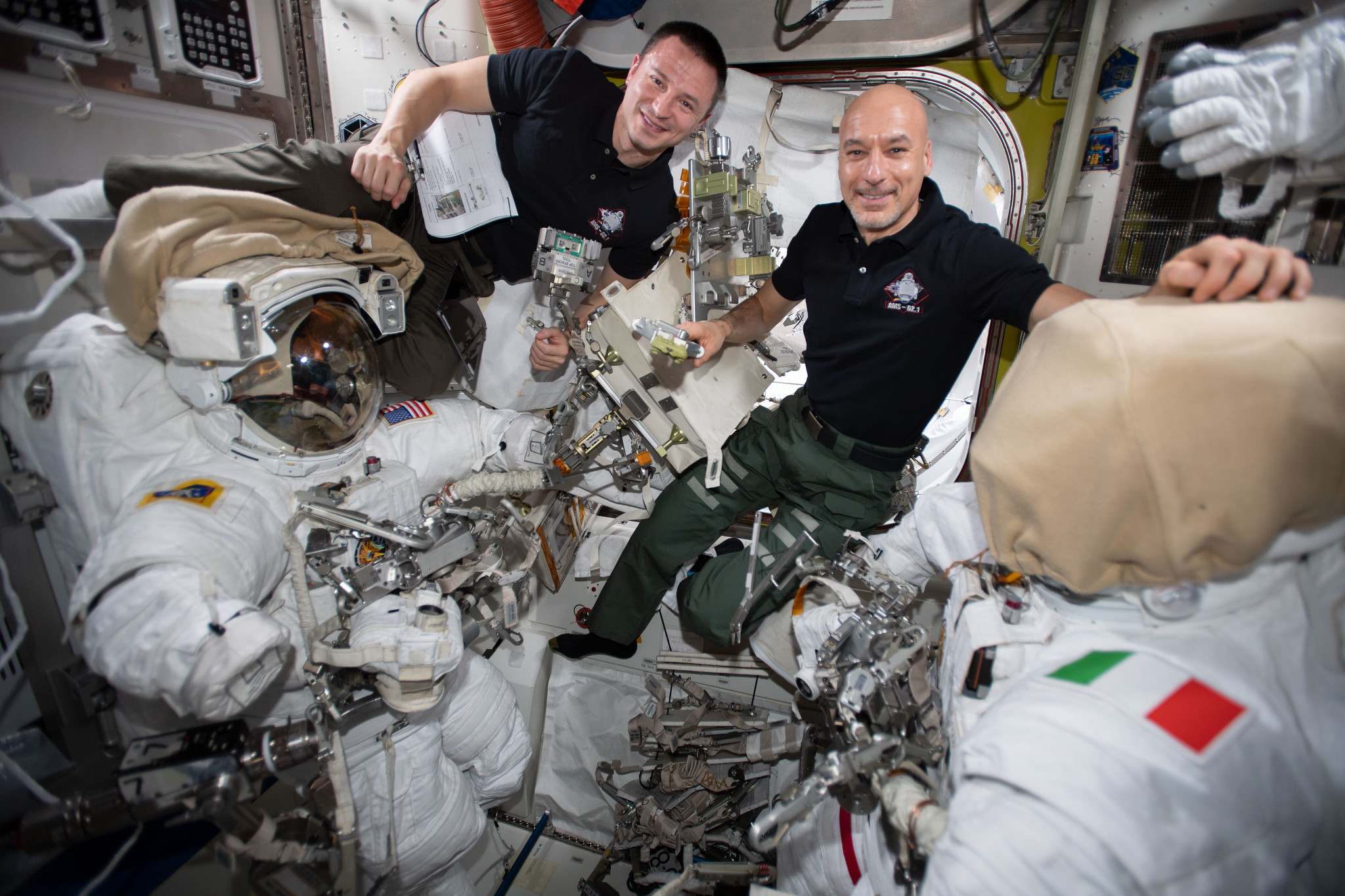 NASA astronaut Andrew Morgan and ESA Commander Luca Parmitano